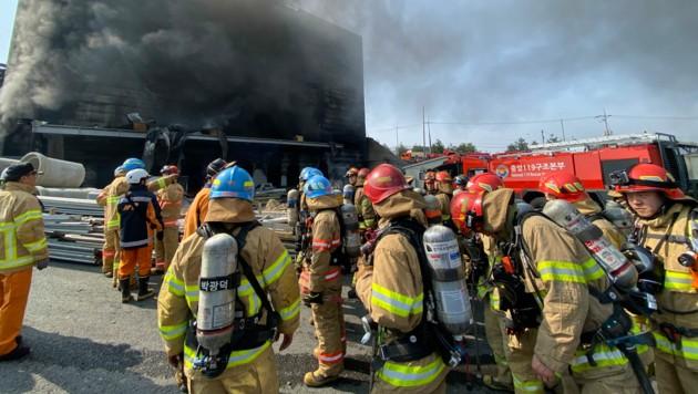 Bei dem Brand auf der Baustelle in Icheon kamen 38 Menschen ums Leben, zehn weitere wurden verletzt. (Bild: AFP)