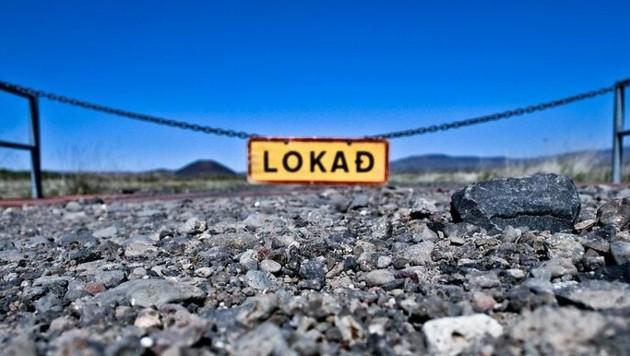 """"""",Lokað' bedeutet ,Geschlossen' auf Isländisch. Und das ist derzeit so ziemlich alles"""", schreibt Inga. Die ehemalige krone.at-Redakteurin hat sich in Island ein neues Leben aufgebaut, doch die derzeitige Krise macht es ihr gerade schwer. (Bild: Inga S.)"""