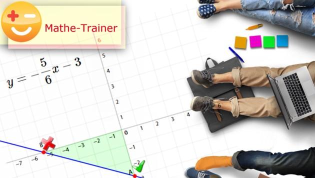 (Bild: Mathe Trainer/Chocolate Management & Verlag GmbH, krone.at-Grafik)