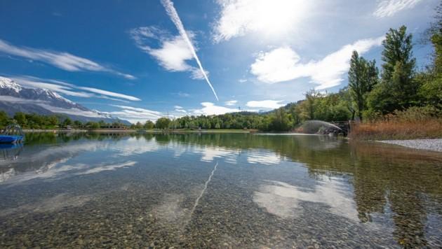 Trotz Corona gibt es Badespaß am Innsbrucker Baggersee. (Bild: Christian Forcher)