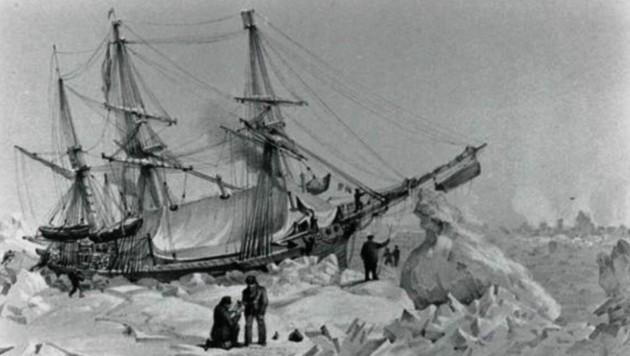 """Shackletons Schiff ging unter, die Kärntner Entdecker hoffen auf """"Kohle"""" zum Weiterfahren. (Bild: Steiner Clara-Milena)"""