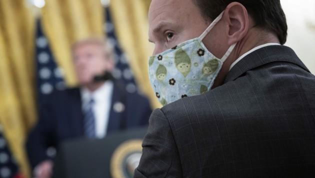 Journalisten bei einer Pressekonferenz von Donald Trump (Bild: AFP)