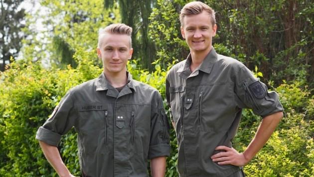 Stefan (im Bild links) und Daniel Huber wollen nach dem Einsatz im Heer bald wieder auf die Schanze. (Bild: Daniel Huber)