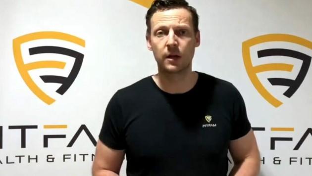 Christoph Haider ist Betreiber eines Fitnessstudios im niederösterreichischen Amstetten. (Bild: Christoph Haider/youtube.com)