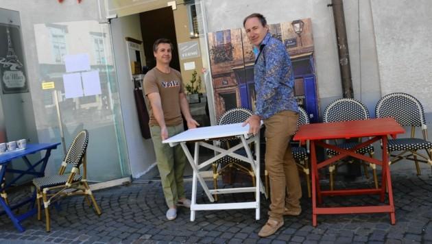 Michael Pendl und Gerald Hafner (Bild: Christian Jauschowetz)