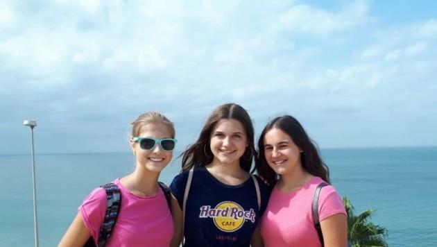 Archivfoto: Isabel, Jennifer, Ines bei einer Sprachreise. (Bild: Krone-NÖ)