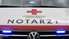 Das Rote Kreuz und ein Hubschrauber waren im Einsatz (Bild: P. Huber)
