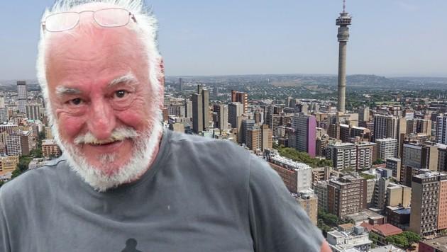 Harry Binder saß in Johannesburg fest. (Bild: Harry Binder, stock.adobe.com, krone.at-Grafik)