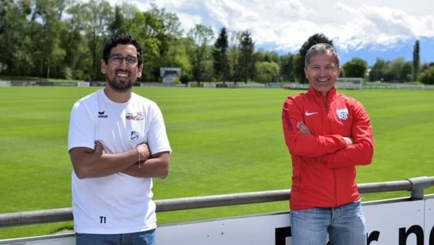 Die Coaches: Anifs Ikache (links) und Grödigs Bojceski (Bild: USK Anif)