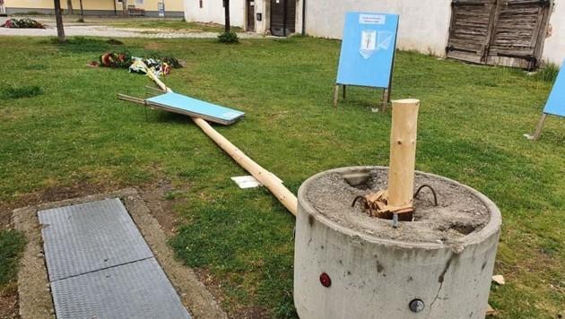 Nach dreister Attacke wird ein neuer Maibaum aufgestellt (Bild: Robert Rieger Pgotography)