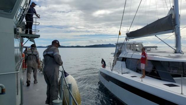 (Bild: Fiji Maritime Surveillance Rescue Coordination Centre (FMSRCC))