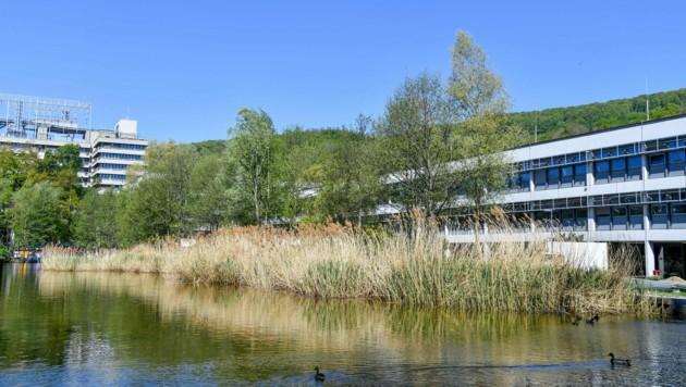 Blick auf einen Teil des JKU-Campus (Bild: © Harald Dostal)