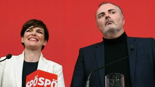 SPÖ-Chefin Pamela Rendi-Wagner und der burgenländische Landeshauptmann Hans Peter Doskozil (Bild: APA/Helmut Fohringer)