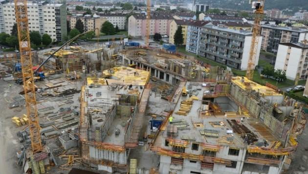Der Bau von Baufeld1 am Campagne-Areal Reichenau schreitet trotz Corona planmäßig voran. (Bild: IKM/W.Giuliani)