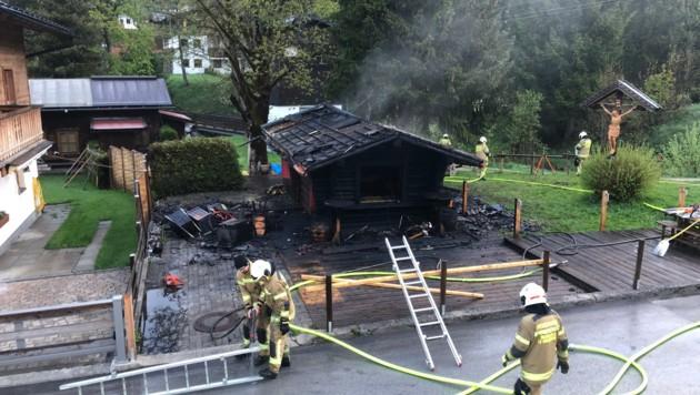Die Bar brannte völlig aus. (Bild: Feuerwehr Maria Alm)