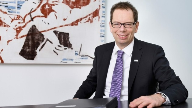 Sein Vertrag als Generaldirektor der VKB-Bank wurde um fünf Jahre verlängert: Christoph Wurm (51). (Bild: VKB-Bank)