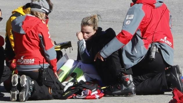Bittere Tränen: Schild war nach dem Sturz in Sölden sofort klar, dass eine lange Reha wartet. (Bild: Birbaumer Christof)