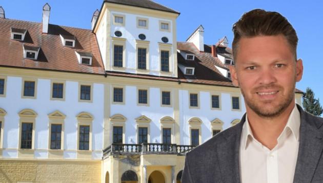 BSS-Group-Geschäftsführer Manuel Ungar hat sich das prächtige, barocke Wasserschloss in Aurolzmünster gesichert. (Bild: Daniel Scharinger/bss-group)