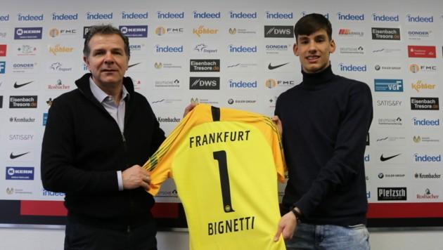 Matteo Bignetti wechselt von Sturm Graz zum deutschen Bundesligisten Eintracht Frankfurt. (Bild: Eintracht Frankfurt)