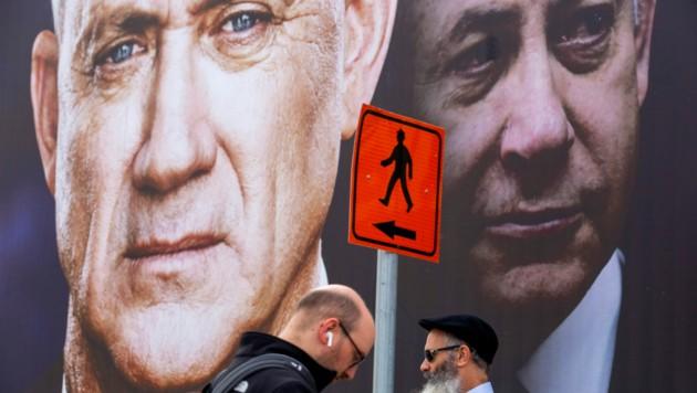 In Israel hat das Oberste Gericht die geplante Notregierung von Ministerpräsident Benjamin Netanyahu und Ex-Armeechef Benny Gantz gebilligt. (Bild: AP)