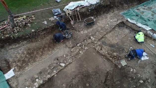 Marmormosaik in Weyregg am Attersee entdeckt (Bild: APA/OOE LANDES-KULTUR GMBH)