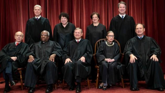 Die neun Höchstrichter des US Supreme Court