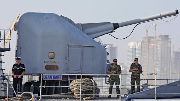 """Die französische Fregatte Jean Bart befindet sich bereits im """"Irini""""-Einsatz. (Bild: APA/AFP/LUDOVIC MARIN)"""