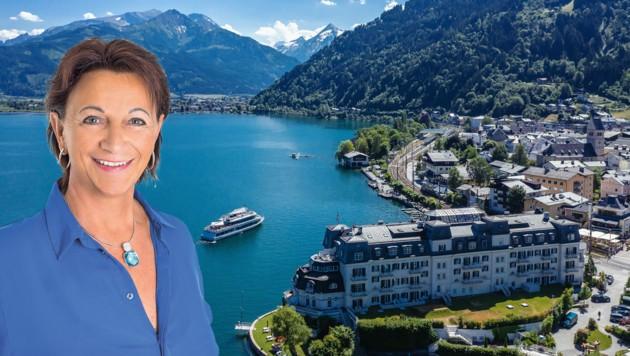 Salome Rattensberger (52) sitzt vorübergehend für ein paar Wochen im Chefsessel der Pinzgauer Bezirksstadt. (Bild: EXPA Pictures, Rattensberger)