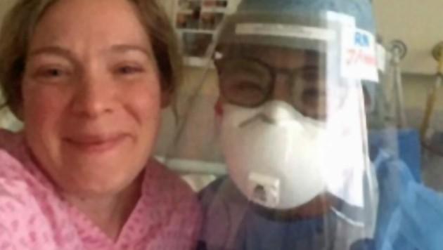 Angela nach der Behandlung (Bild: twitter.com/angie_la)