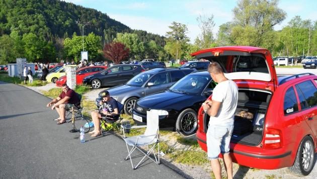Unbeeindruckt von der Corona-Krise in Kärnten zeigten sich GTI-Fans bereits vor einigen Monaten. (Bild: SOBE HERMANN 9232 ROSEGG)