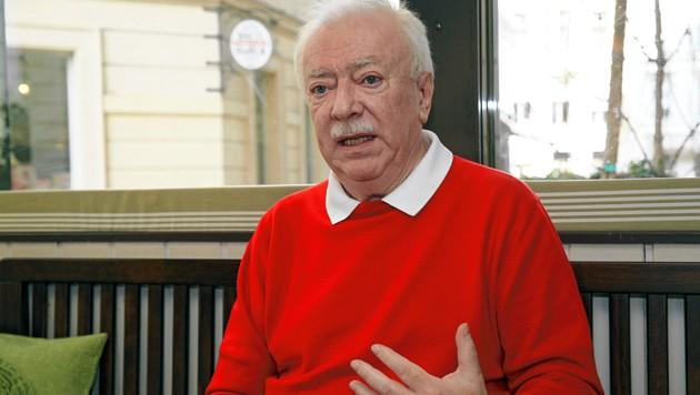 """Michael Häupl im Zuge eines """"Krone""""-Interviews im März 2020 (Bild: Klemens Groh)"""