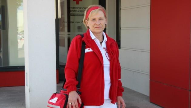Andrea Kessler-Steinbauer aus Schwertberg liebt ihren Job. (Bild: RK OÖ)