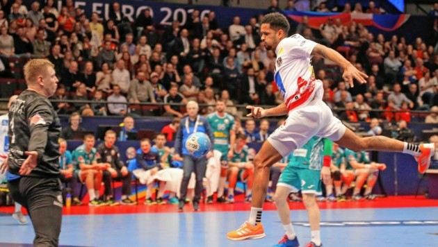 Handball-Teamspieler Raul Santos (Bild: KRONENZEITUNG FOTO GERHARD GRADWOHL)