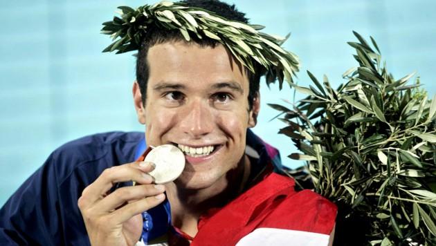 Markus Rogan im Jahr 2004 als Olympionike in Athen (Bild: GEPA)