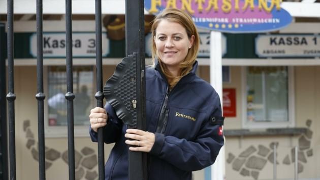 """Sarah Grabler vom Freizeitpark-Straßwalchen schildert der """"Krone"""" ihre Situation (Bild: Tschepp Markus)"""
