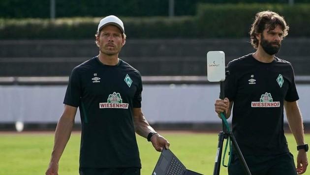 Befördert: Günther Stoxreiter (li.) ist Werders oberster Athletik-Chef, übernahm die Agenden von Ex-Boss Axel Dörrfuß. (Bild: Werder Bremen)