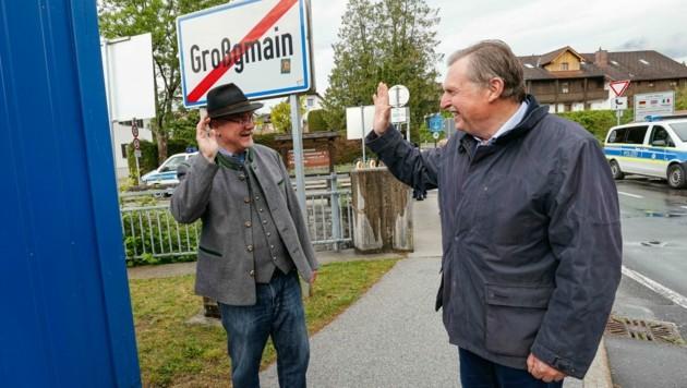 Die beiden Bürgermeister von Großgmain und Bayrisch Gmain (Bild: Markus Tschepp)