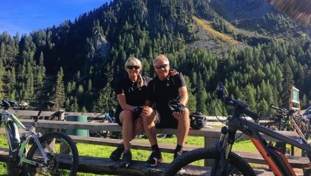 Walter und Conny Schachner sind begeisterte Mountainbiker. (Bild: Fam. Schachner)