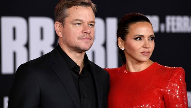 Matt Damon mit Ehefrau Luciana Barroso (Bild: 2019 Getty Images)