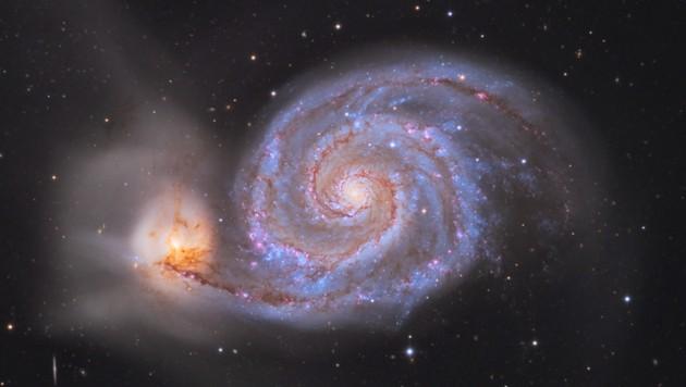 Die Whirlpoolgalaxie (Bild: Rochus Hess)