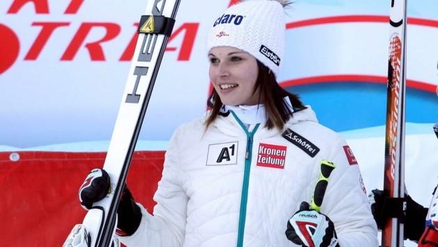 Anna Veith noch als Anna Fenninger bei ihrem ersten Weltcupsieg im Dezember 2011 in Lienz. (Bild: GEPA pictures/ Hans Simonlehner)