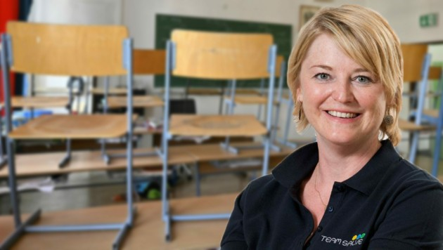 Christine Haslauer, Obfrau Salzburger Lehrerverein. (Bild: APA/Hans Punz, Harald Kienzl)
