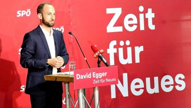 Der 33-jährige David Egger aus Neumarkt am Wallersee ist designierter Landesparteichef (Bild: Max Grill)