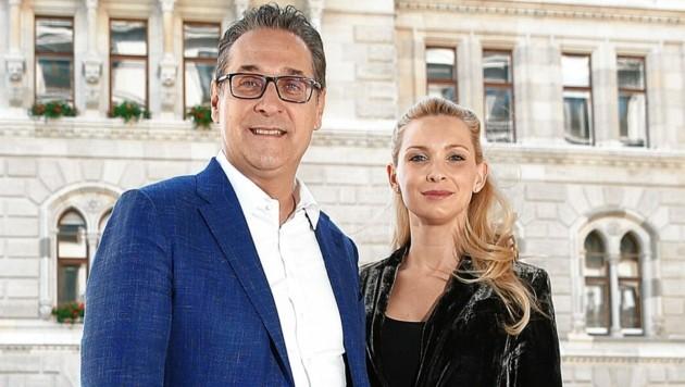 Heinz-Christian Strache mit Ehefrau Philippa