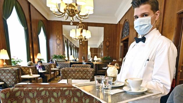 Im Mai 2020 hatte die Wiedereröffnung, wie hier im Café Landtmann in Wien, gut geklappt. (Bild: APA/Hans Punz)