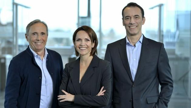 Simone Oberndorfer mit den Geschäftsführern Werner Pröll (l.) und Christian Nußbaumer. (Bild: Oberndorfer)
