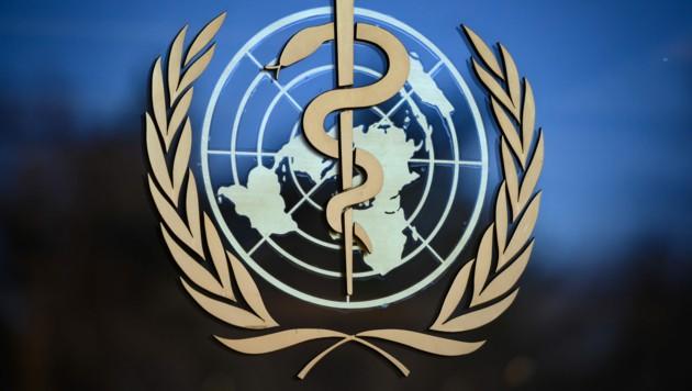 Das Logo der Weltgesundheitsorganisation (WHO) (Bild: AFP)