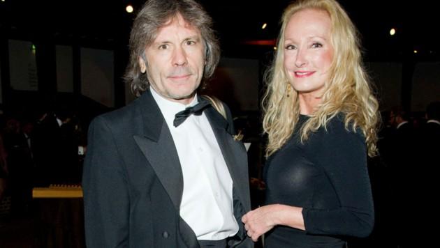 Bruce Dickinson mit Noch-Ehefrau Paddy Bowden 2013 in London (Bild: www.PPS.at)