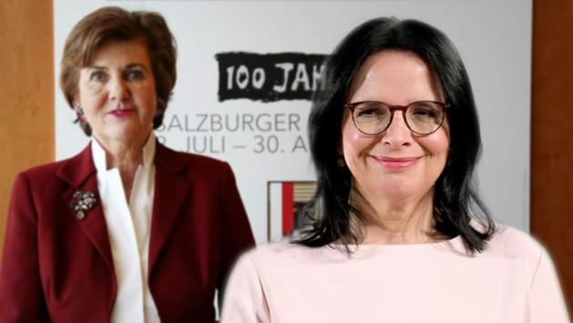 Lob von Helga Rabl-Stadler für die neue Kulturstaatssekretärin Andrea Mayer (Bild: picturedesk.com, Tröster)