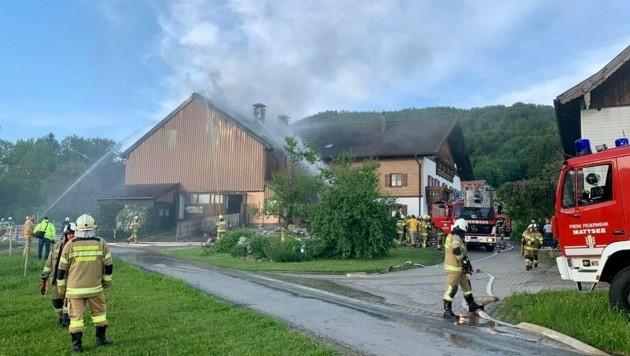 Brand am Buchberg in Mattsee (Bild: Markus Tschepp)